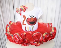 Elmo Tutu, Sesame Street Tutu, Big Bird, Cookie Monster, Abby Cadabby, Birthday Tutu