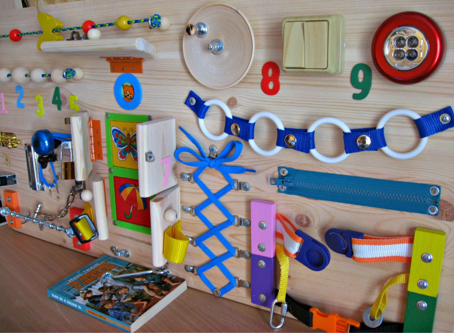 Toys For Activity : Busy board childrens activity toy sensory game wooden