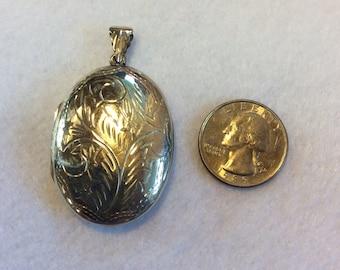 Sterling Silver Large Locket