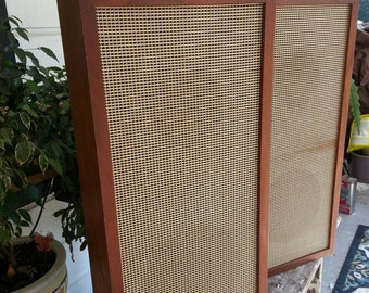 Clearance Vintage speakers sweden mid century modern wood set of 2