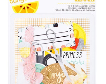 Embellishments - Amy Tangerine, Stitched, Cardstock Die Cuts (368980)