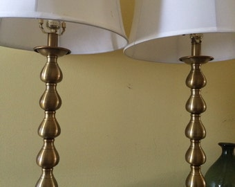 Pair of Gold Table Lamps