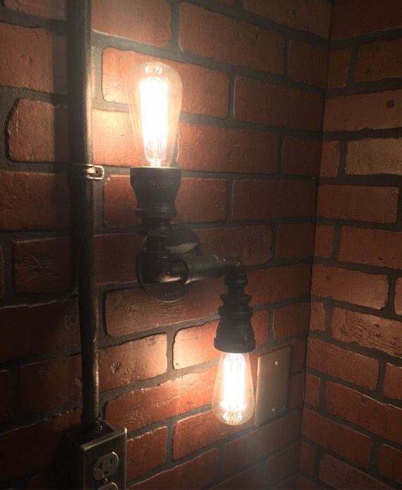 Steampunk Industrial Double 2 Directional Wall By