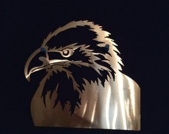 Eagle Profile Wall Metal Art