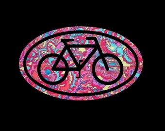 Bicycle Euro Vinyl Decal in your choice of pretty preppy prints and patterns! Perfect gift or gift bag decoration for the cyclist!