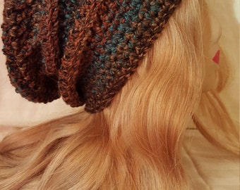 Slouch Hat ~ Crochet Hat ~ Fall Fashion ~ Winter Fashion ~ Slouchy Hat ~ Long Hat ~ Crochet Slouch Hat ~ Brown Slouch Hat ~ Birthday Gift