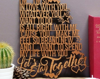 Al Green - Let's Stay Together Song Lyrics Plaque