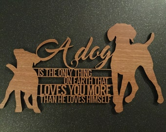 Personalised Dog Plaque with Saying