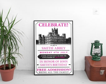 "Downton Abbey Open House Poster as seen in Season 6 Episode 6 ""CUSTOMIZED"""
