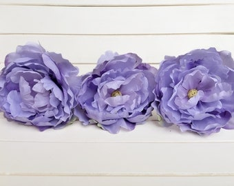 Peony Flower Pen - Gift Idea Bridal Wedding Shower Bridesmaid Birthday Guest Book Ivory Purple Lavender  Mothers Valentines Day Gift For Her