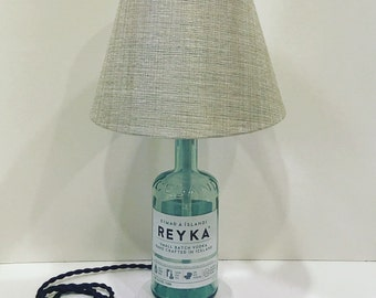 Recycled Vodka Bottle Lamp