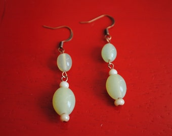 Handmade Earrings With Glass Beads