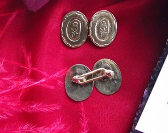 SL-0026 - Famile Rose Button Cuff Links - Reenactor Cuff Links - Living History Sleeve Buttons