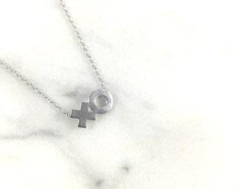 XO Necklace/Silver Necklace/Polish Necklace