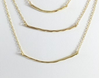 3 layer necklace, gold filled necklace, Gold Layered Necklace,  Multi Strand Necklaces, chain necklace, triple strand necklace,