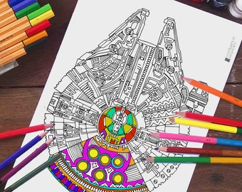 r2d2 star wars zentangle doodle coloring pages for kids by ink88. Black Bedroom Furniture Sets. Home Design Ideas