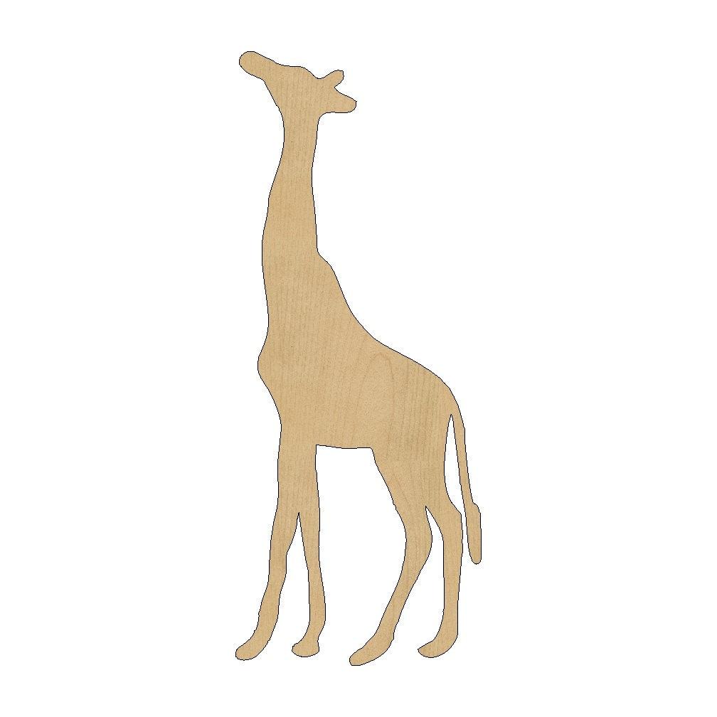 Giraffe Cutout Shape Laser Cut Unfinished Wood Shapes Craft