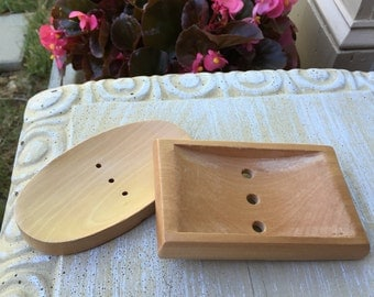 Wooden Soap Dish ~ Lacquered