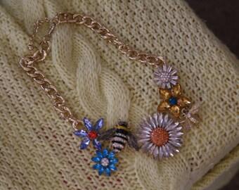 Garden statement necklace