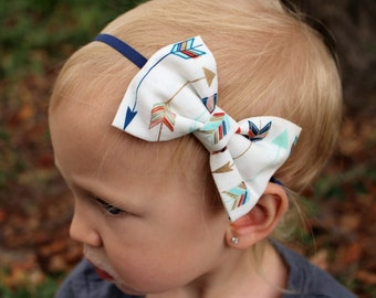 arrow bow headband infant/baby/toddler/girls