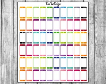 Cellphone Rainbow Stickers