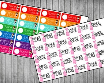Dance Class Planner Stickers | 2 Styles