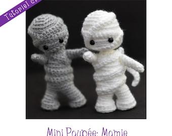 Crochet pattern: Mini doll Mummy
