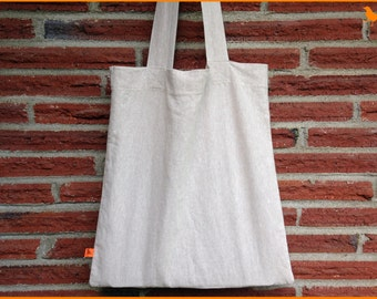 Linen Tote Bag natural eco tote grocery cotton bag simple shopping market bag lightweight modern linen bag summer beach picnic minimalist