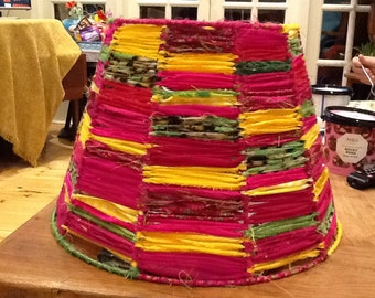WOW Handmade Lampshade in Cerise, Pinks, Yellows and more !