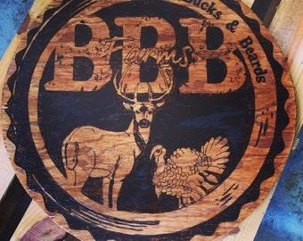 Custom Burned Logo or Family Crest