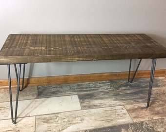 Rustic Wooden Bench, Reclaimed Wood Bench Handmade Furniture Entry Bench, Dining Bench