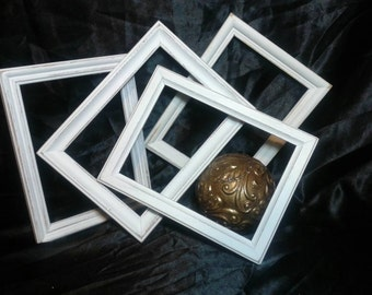 Distressed Picture Frames/ White Shabby Chic Frame Collection / Gallery Wall Frames /5x7 Picture Frames SPRING SALE!