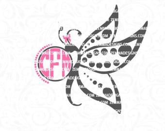 butterfly monogram svg - Monogram butterfly svg - butterfly svg files - svg butterfly - butterfly svg   .SVG .EPS ,DXF - Zemma Designs