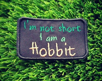 Hobbit Sew on Patch LOTR Tolkien Short Biker Humour