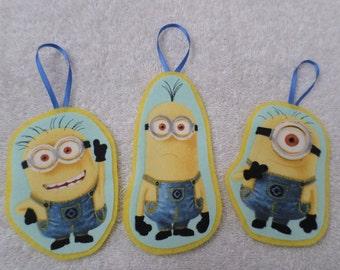 Minions Christmas Ornament-Set of Three-Yellow