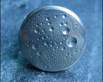 """Handmade Exclusive Full Moon Cratered Ring - Size 5 to 5.5 (0.625"""" Diameter)"""