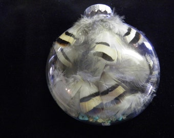 Owl Feather Ornament