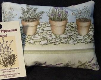 Lavender & Peppermint Sachet, Herbal Sachet, Herbal Pillow, Aromatherapy, Herbs, Essential oils
