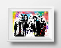 R5 band print, Printable music art, music  poster wall art Instant Download