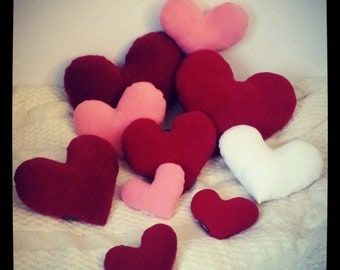 Cushion red Pink White heart