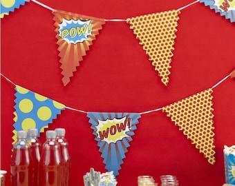 Bunting - Pop Art Superhero Party
