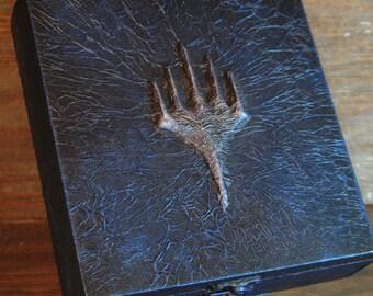 Magic: The Gathering Planeswalker Gold Deck Box, Handmade, MTG, Jace