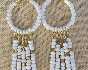 Seed Bead Dangle Earrings