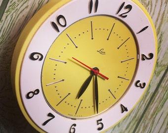Vintage Lux Clock—Retro, Kitsch, Mid Century Kitchen Electric Clock