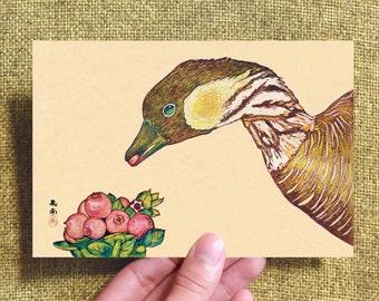 Postcard*Nēnē and ʻŌhelo ʻai