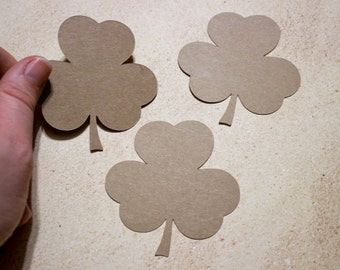 "2.75"" Kraft Shamrock Die Cuts - Party Decor - St Patrick's Day - Classroom Decor"