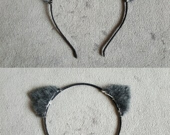 Grey Kitty Ears