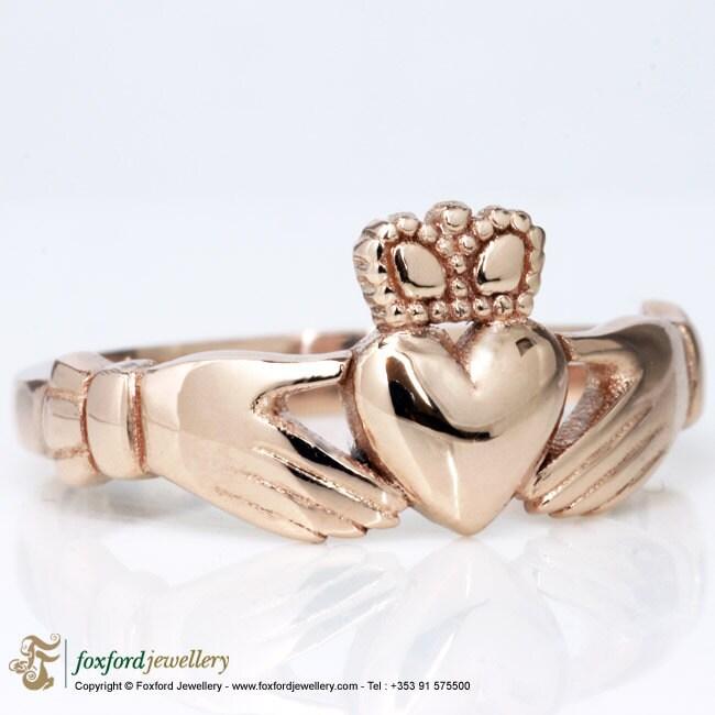 rose gold claddagh ring. Black Bedroom Furniture Sets. Home Design Ideas