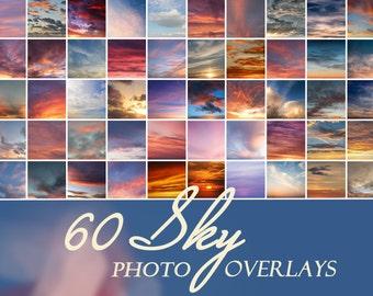 60 photo sky overlays, sky overlay, sky overlays, photoshop overlay, cloud overlay, sunset overlay