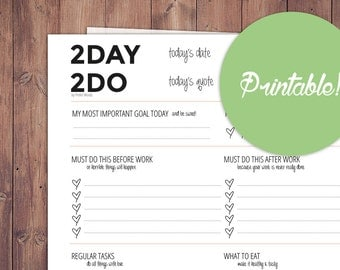 "Cute daily planner ""2DAY 2DO"""